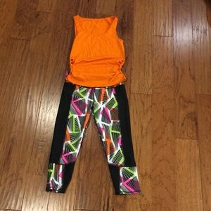 Fabletics neon & black outfit